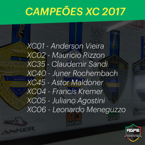 Campeões Cross Coutry 2017